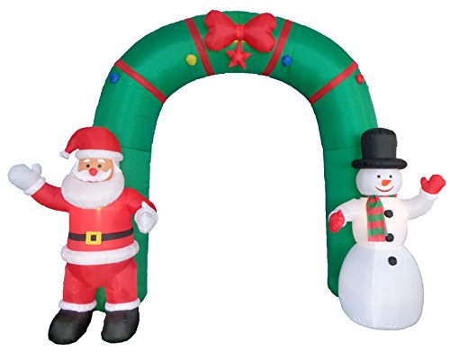 10-Foot-Tall-Lighted-Christmas-Inflatable-Archway-with-Santa-Claus-and-Snowman-Party-Decoration-0