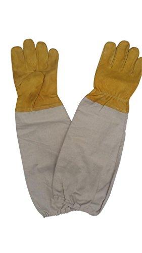10-Pairs-Wangshi-Bee-Beekeeping-Protective-Goatskin-Soft-Bee-Glove-Size-S-0