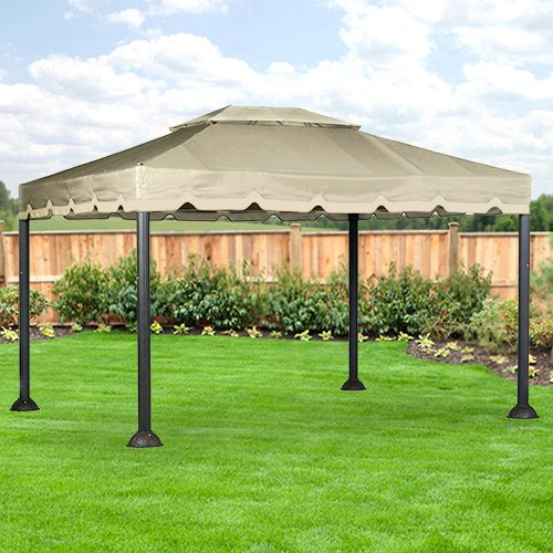 10 X 12 Garden House Gazebo Replacement Canopy – RipLock ...