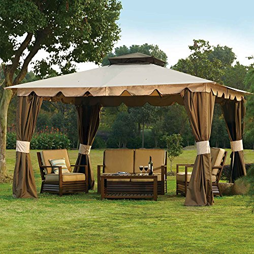 10-x-12-Hampton-Gazebo-Canopy-w-Mosquito-Netting-Privacy-Panels-0