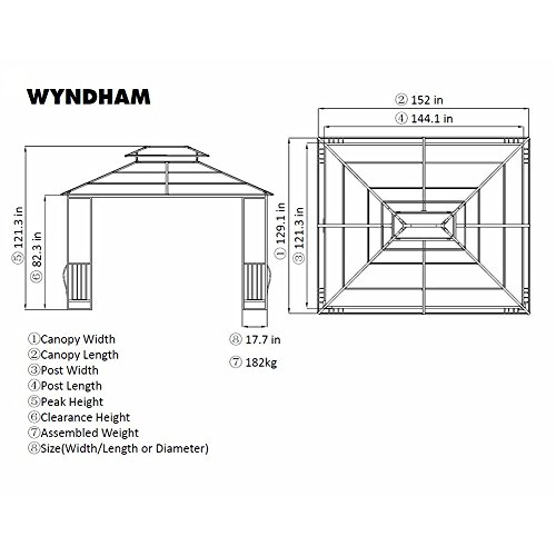 10-x-12-Heavy-Duty-Galvanized-Steel-Hardtop-Wyndham-Patio-Gazebo-0-0