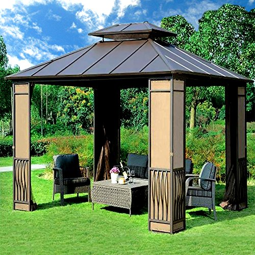 10-x-12-Heavy-Duty-Galvanized-Steel-Hardtop-Wyndham-Patio-Gazebo-0