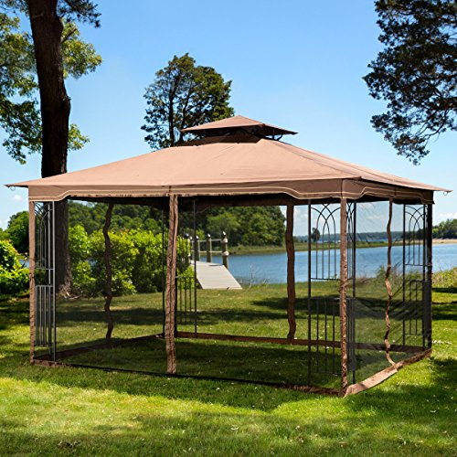 10-x-12-Regency-II-Patio-Gazebo-with-Mosquito-Netting-0-1