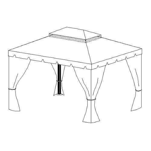10-x-12-Scalloped-Two-Tiered-Gazebo-Replacement-Canopy-0-0