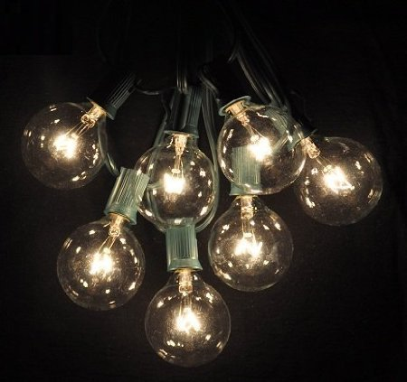 100 Foot Globe Patio String Lights Set Of 100 G50 Clear