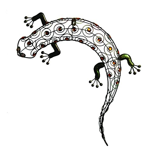11-W-x-18-12-H-x-2-D-Multi-Colored-Metal-Gecko-Wall-Art-0