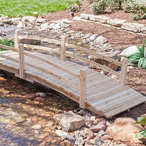 12-Ft-Wooden-Garden-Bridge-with-Rails-in-Unfinished-Fir-Wood-0