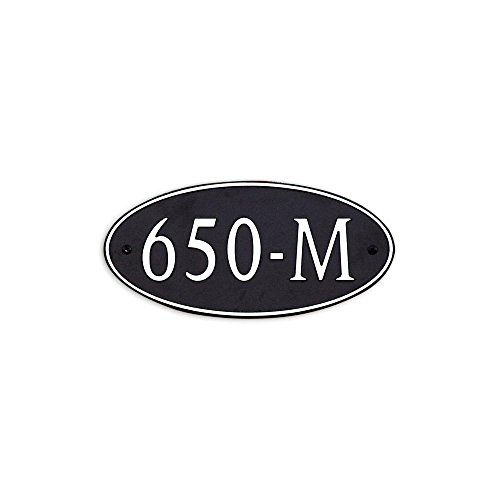 12-L-x-6-W-Medium-Oval-Custom-Plastic-Address-Plaque-Copper-on-Black-0