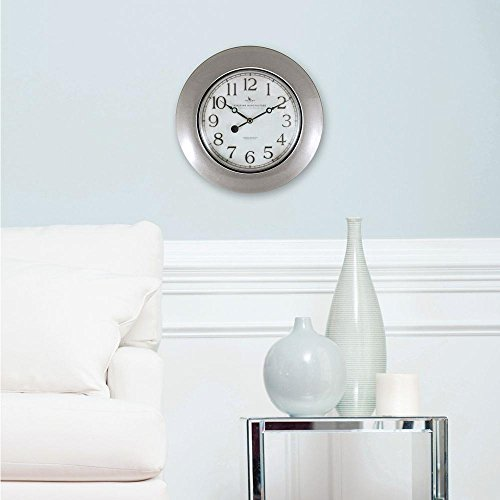 12-in-H-Pewter-Trans-Wall-Clock-0-0