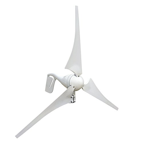 12V24V-400-Watts-Wind-Turbine-Generator-Kit-DC-White-3-Blades-with-Hybird-Charge-Controller-for-Residential-Agriculture-Marine-DIY-Installation-Providing-Off-grid-Green-Energy-Power-0