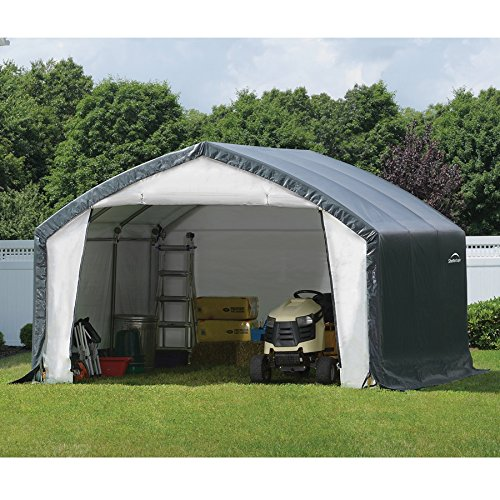 12x15x9-Accela-Frame-HD-Shelter-Gray-Cover-0-0
