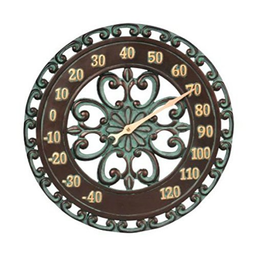 14 Medallion Outdoor Thermometer Wall Hanging Outside