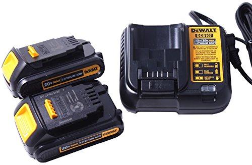 2-Pack-Genuine-Original-New-DeWalt-DCB207-20V-Battery-Packs-and-DeWalt-DCB107-20-Volt-Battery-Charger-0