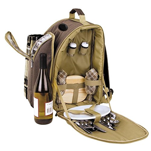 2-Person-Picnic-Backpackwith-insulated-cooler-storage-compartments-Accessories-and-blanket-included-0-1