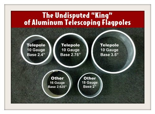 20-Telepole-Superior-1-Telescoping-Flagpole-275-Base-Diameter-10-Gauge-Aluminum-Silver-0-0