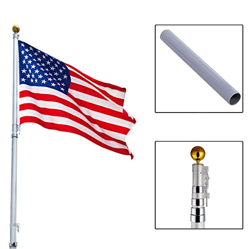 20Ft-Aluminum-Telescoping-Flagpole-Kit-Outdoor-Gold-Ball-1-US-America-Flag-New-0