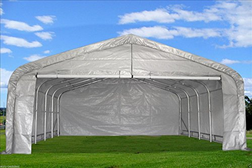 20x22-Carport-GreyWhite-Waterproof-Storage-Canopy-Shed-Car-Truck-Boat-Garage-By-DELTA-Canopies-0