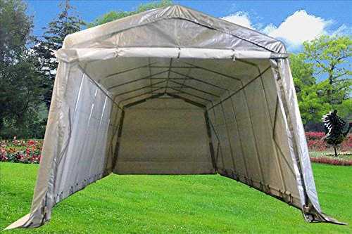 24x13-Carport-GreyWhite-Heavy-Duty-Waterproof-Garage-Storage-Canopy-Shed-Car-Truck-Boat-Carport-PE-By-DELTA-Canopies-0