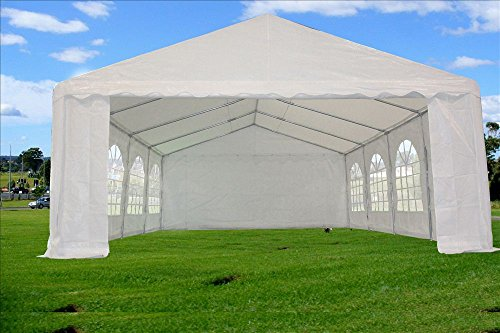 26×16-PE-Tent-White-Heavy-Duty-Wedding-Party-Canopy-Carport-PE-DELTA-Canopies-0-0