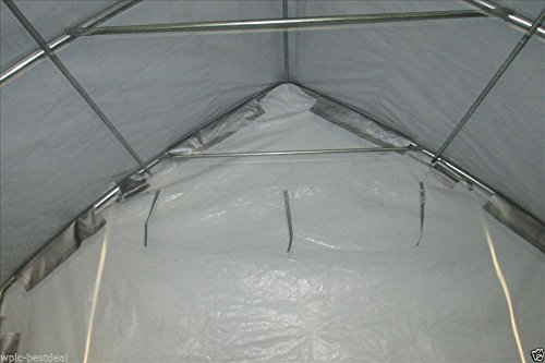 28x12-Carport-GreyWhite-Garage-Storage-Canopy-Shed-Car-Truck-Boat-Carport-By-DELTA-Canopies-0-1
