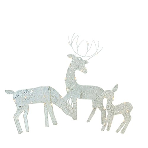 3-Piece-White-Glittered-Doe-Fawn-and-Reindeer-Lighted-Christmas-Yard-Art-Decoration-Set-0
