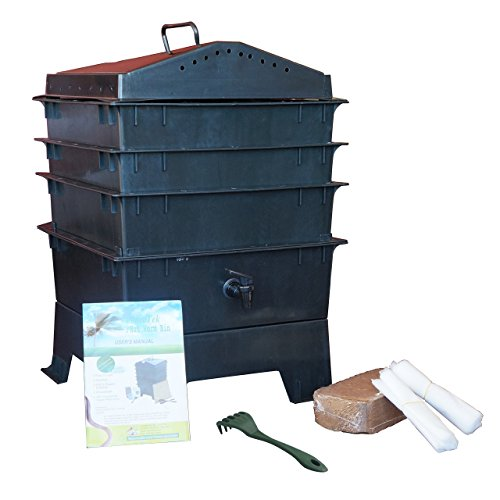 3-Tray-Worm-Compost-Bin-with-Free-Claw-Black-0