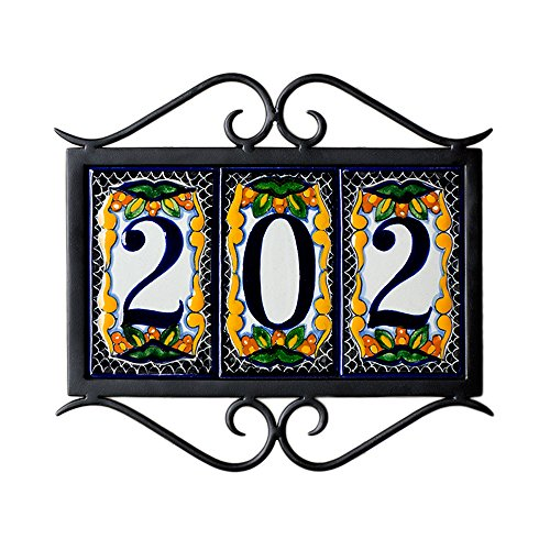 3-tile-Classic-Wrought-Iron-Address-Frame-0