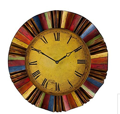 30-Artistic-Vintage-Style-Multi-Color-Metal-and-Wooden-Clock-Wall-Hanging-Decor-Home-Accent-Rustic-Art-Plaque-Antiqued-Finish-Design-Decoration-0