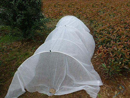 30FT-Long-Agfabric-Hoop-House-Kit-Mini-Greenhouse-Grow-Tunnel-kits-09oz-Row-Cover-And-Heavy-duty-Double-Hoops-0-0