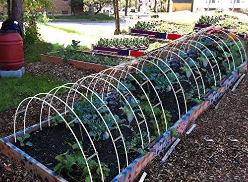30FT-Long-Agfabric-Hoop-House-Kit-Mini-Greenhouse-Grow-Tunnel-kits-09oz-Row-Cover-And-Heavy-duty-Double-Hoops-0