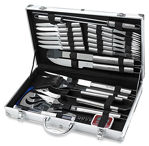 31-Piece-Stainless-Steel-BBQ-Accessories-Tool-Set-Includes-Aluminum-Storage-Case-for-Barbecue-Grill-Utensils-By-Kitch-N-Wares-0