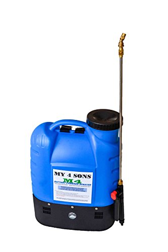 4-Gallon-Battery-Powered-Backpack-Sprayer-Wide-Mouth-With-STEEL-WAND-and-BRASS-NOZZLE-with-extended-hose-0