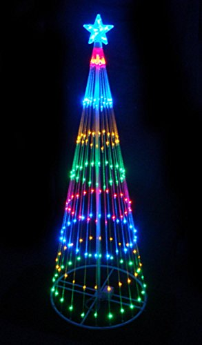 4-Multi-Color-LED-Light-Show-Cone-Christmas-Tree-Lighted-Yard-Art-Decoration-0