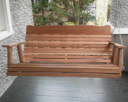 4-Natural-Cedar-Porch-Swing-Amish-Crafted-Includes-Chain-Springs-0
