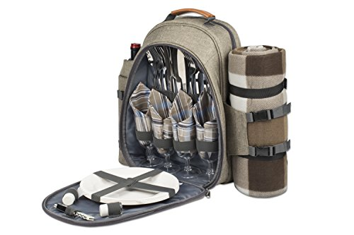 4-Person-Picnic-Backpack-With-Cooler-Compartment-Detachable-BottleWine-Holder-Oversized-Fleece-Blanket-Plates-and-Cutlery-Set-0-0