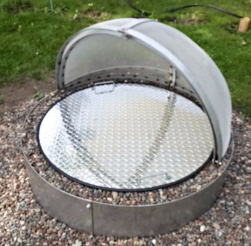 40 Round Flat Aluminum Fire Pit Cover Campfire Ring Lid