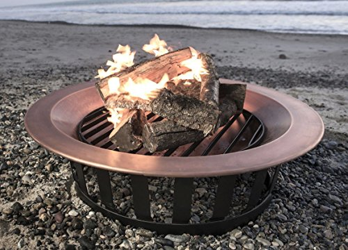 40-Solid-100-Copper-Fire-Pit-Bowl-Wood-Burning-Patio-Frontgate-Deck-Grill-0