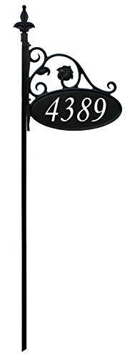 48-Park-Place-Oval-Reflective-911-Home-Address-Sign-for-Yard-Custom-Made-Address-Plaque-Wrought-Iron-Look-Without-the-Upkeep-Exclusively-By-Address-America-Great-Gift-for-Parents-and-Grandparents-0