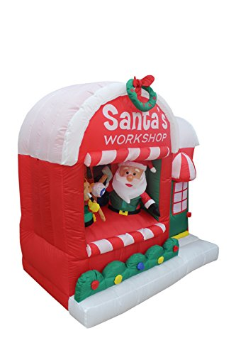 5 Foot Christmas Inflatable Santa Claus Workshop Yard