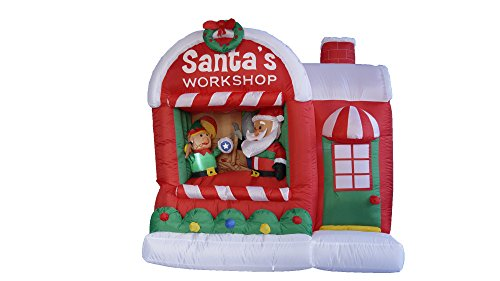 5-Foot-Christmas-Inflatable-Santa-Claus-Workshop-Yard-Decoration-0-1