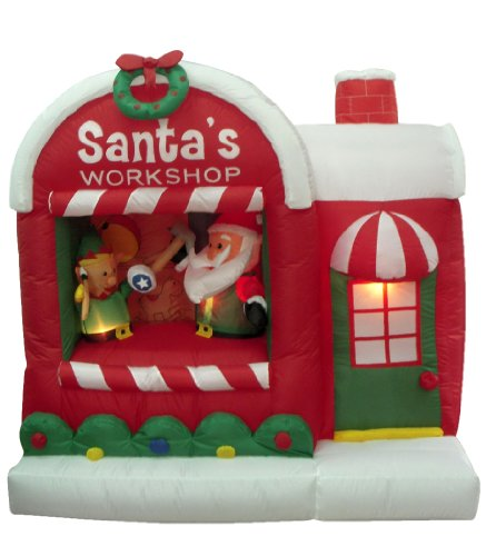 5-Foot-Christmas-Inflatable-Santa-Claus-Workshop-Yard-Decoration-0