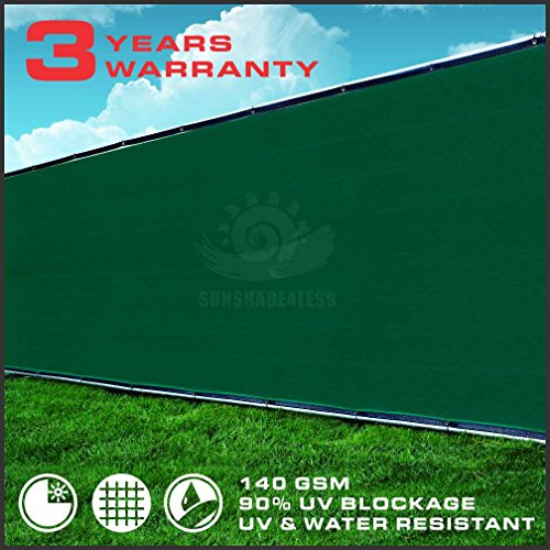 5-Tall-Green-Fence-Privacy-Screen-Taped-with-Brass-Grommets-Mesh-Fabric-Custom-Size-0