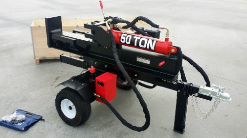 50-Ton-Log-Wood-Splitter-Hydraulic-15HP-Gas-Engine-4-Way-Splitting-Wedge-Electric-Start-Tow-Hitch-Package-1-Year-Parts-Warranty-0