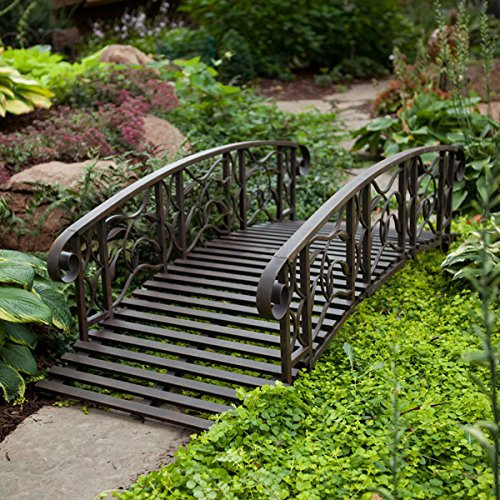 6-ft-Metal-Garden-Bridge-Willow-Creek-Lawn-Furniture-0