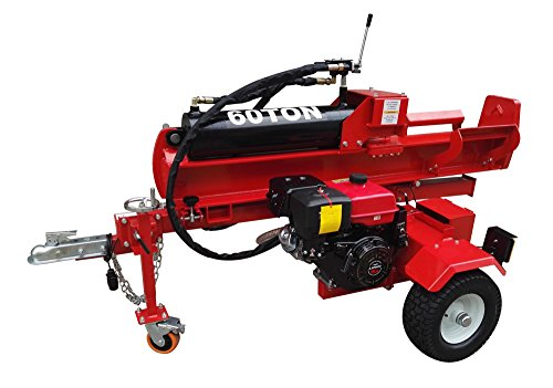 60-Ton-15HP-420cc-Hydraulic-Gasoline-Powered-Log-Wood-Splitter-Cutter-Machine-with-Electric-Start-and-Battery-22GPM-2-Stage-Pump-and-4-Way-Splitting-Wedge-0