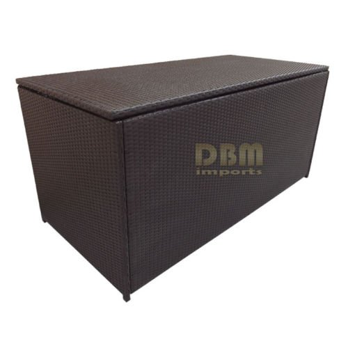 64-LARGE-Wicker-Patio-Deck-Pool-Storage-Box-Chest-Trunk-Cushion-Pillow-Toy-Bin-Poolside-Storing-0-0