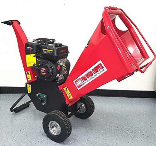 65HP-195cc-Gas-Powered-Wood-Chipper-Yard-Machine-Mulcher-Shredder-4-Capacity-0