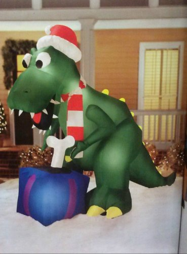 Holiday Inflatable Replacement Fan : Ft t rex dinosauer christmas airblown inflatable farm