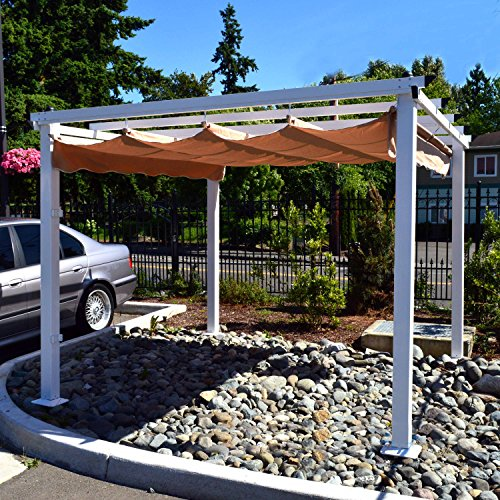 ALEKO-10-x-10-Feet-Grape-Trellis-Pergola-Outdoor-Canopy-Gazebo-Beige-0