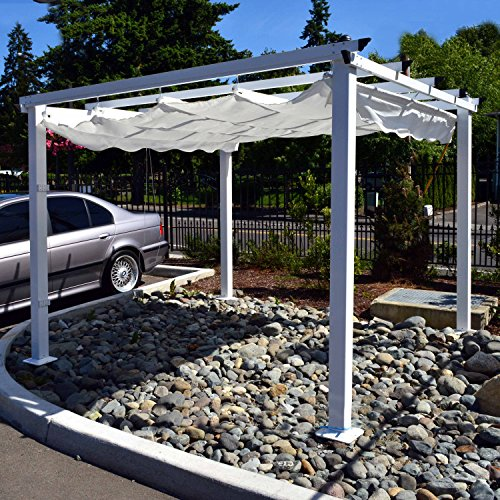 ALEKO-10-x-10-Feet-White-Outdoor-Canopy-Grape-Trellis-Pergola-0